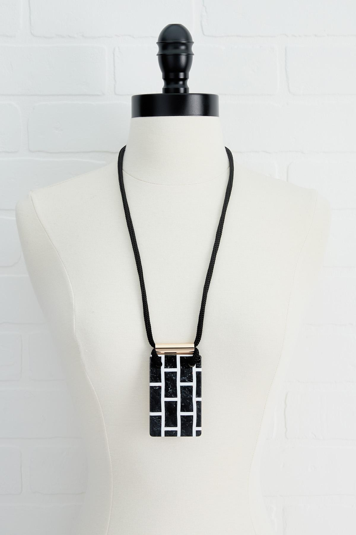 Double Sided Brick Necklace