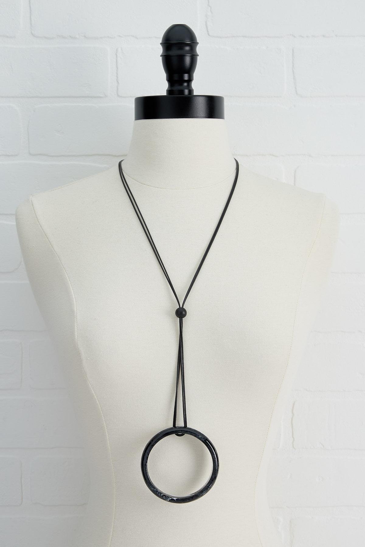 Hoop Pendant Necklace