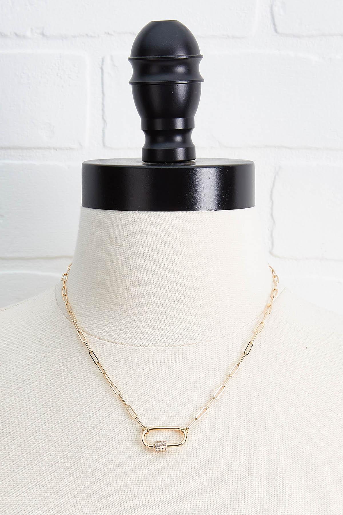 Chain Link Carabiner Necklace
