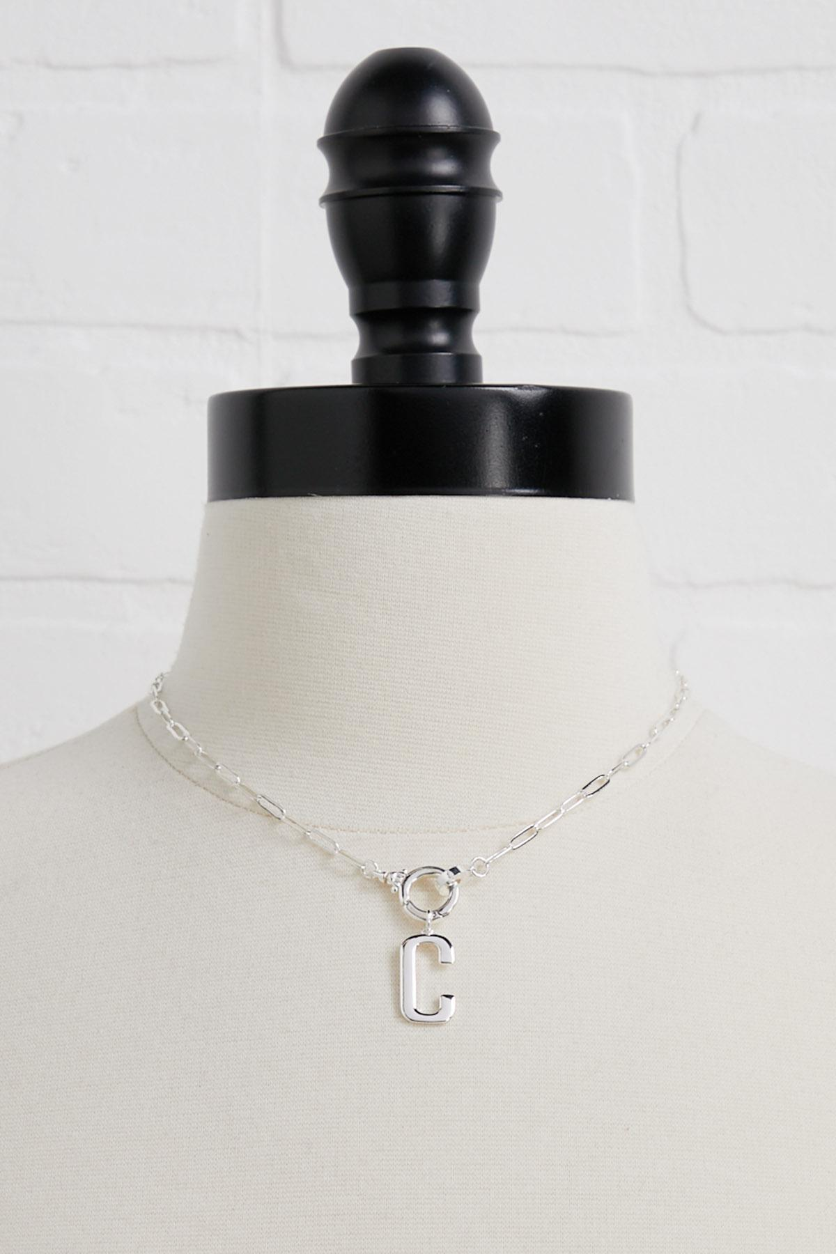 Silver Plated C Initial Charm