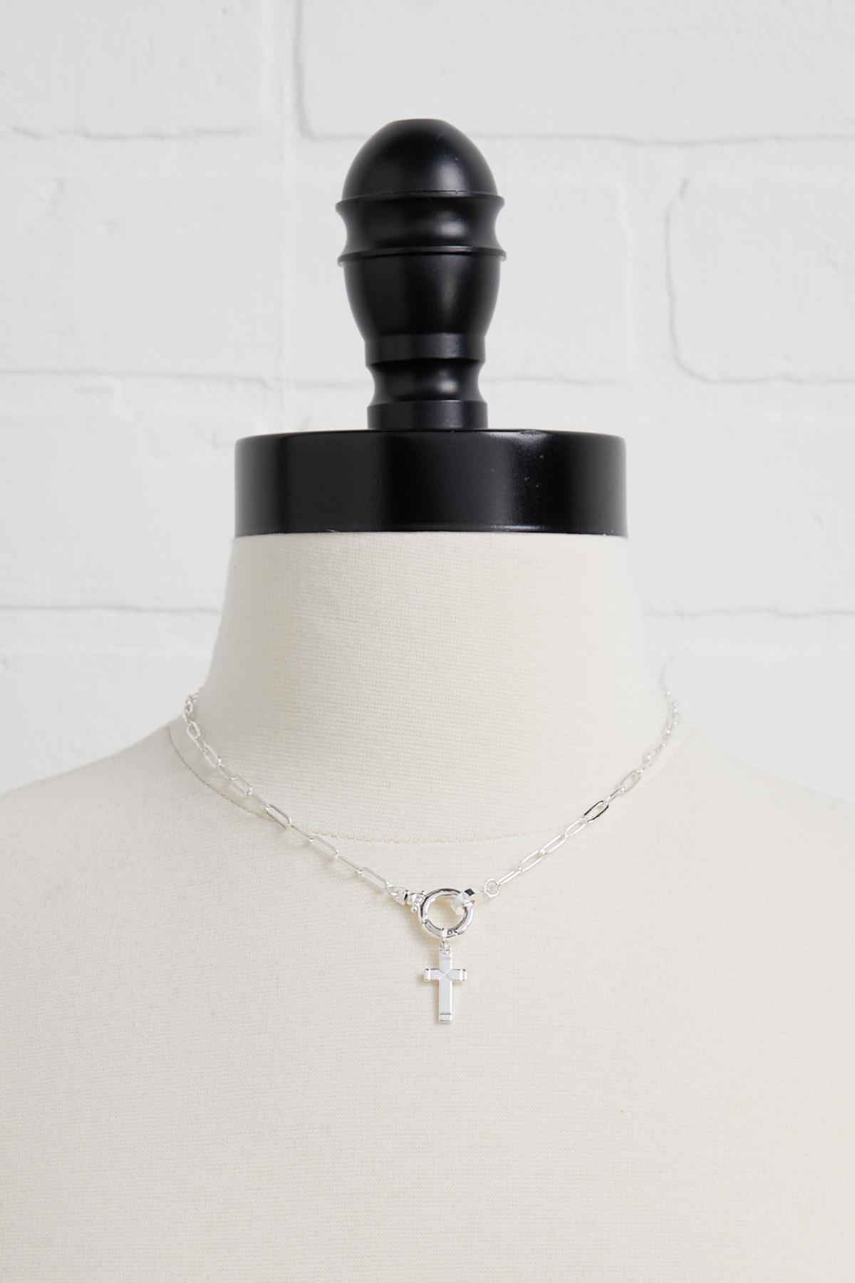 Cross Silver Plated Charm