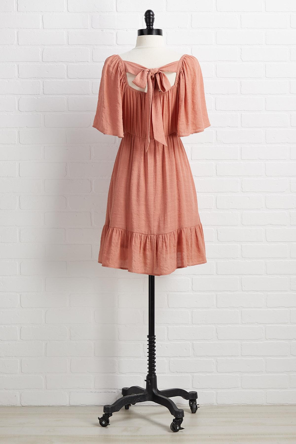 Tie It All Back Dress