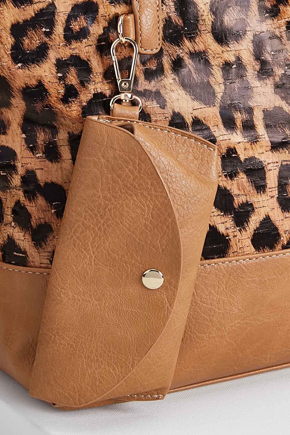 Two In One Leopard Print Tote Bag