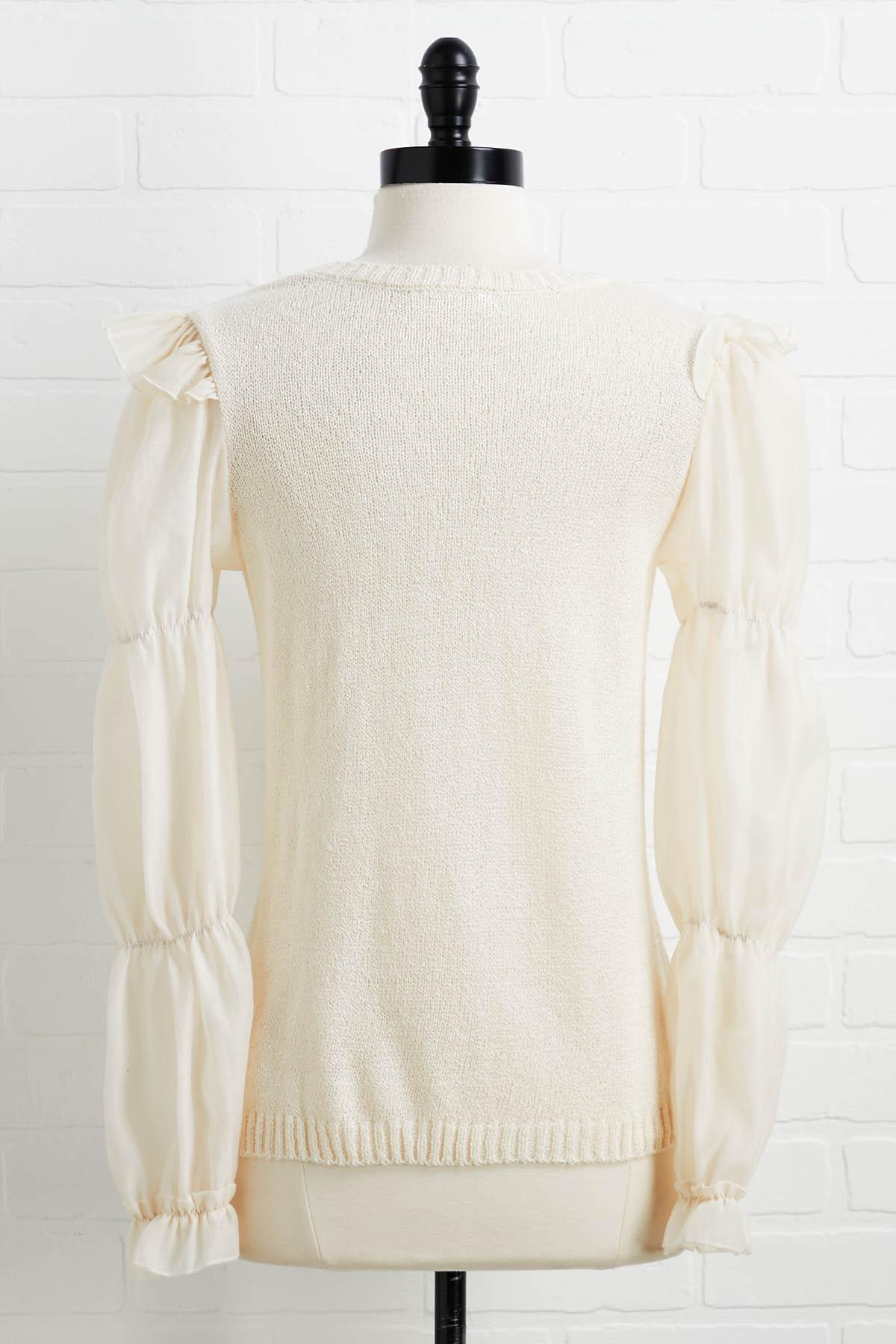 Cream Puff Sweater