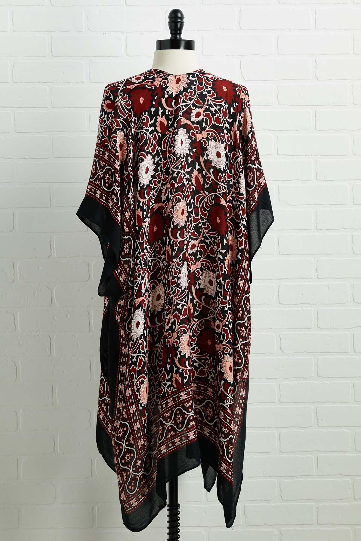 One More Glass Of Red Kimono