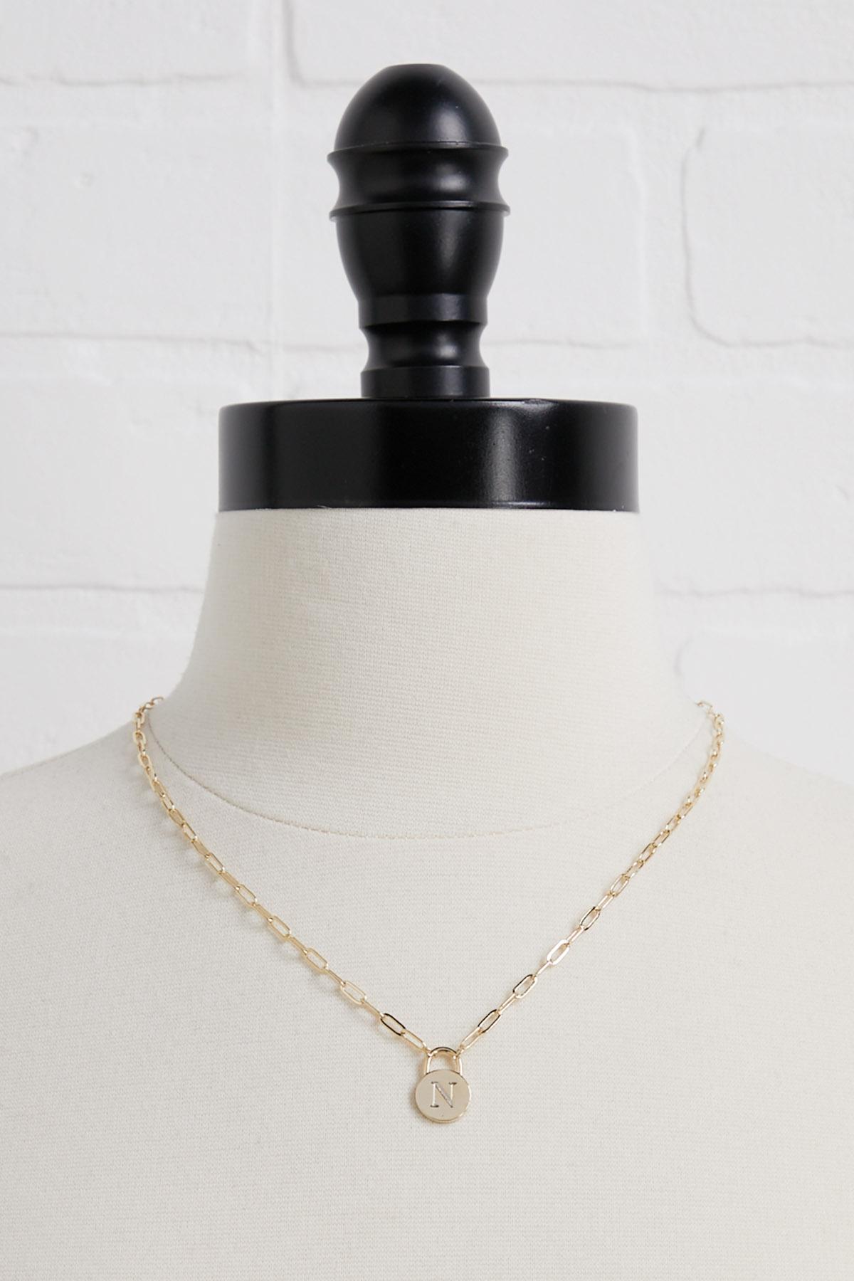 18k N Pendant Necklace