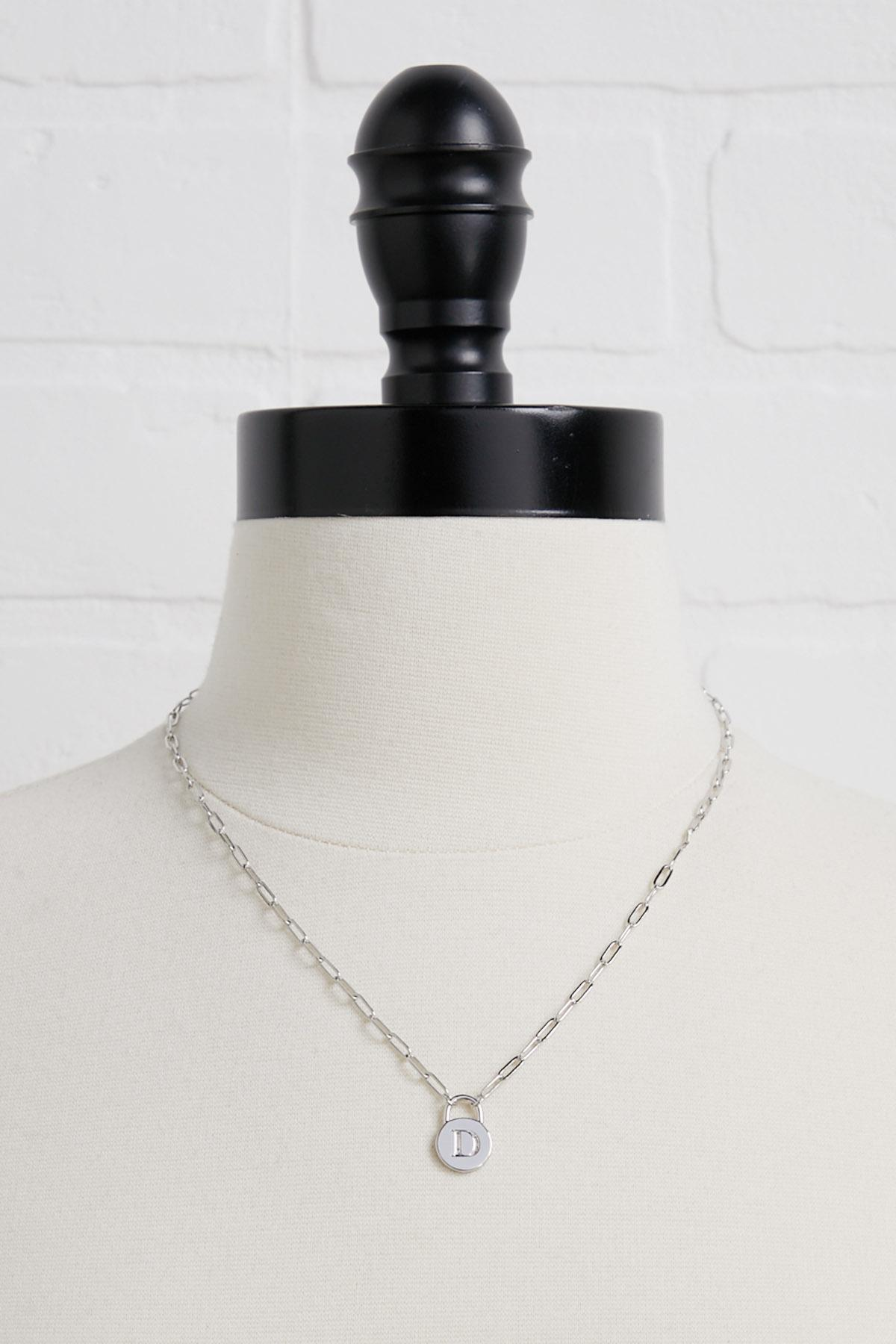 Silver D Necklace