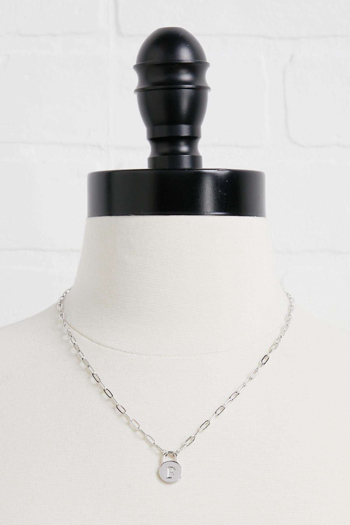 Silver F Necklace