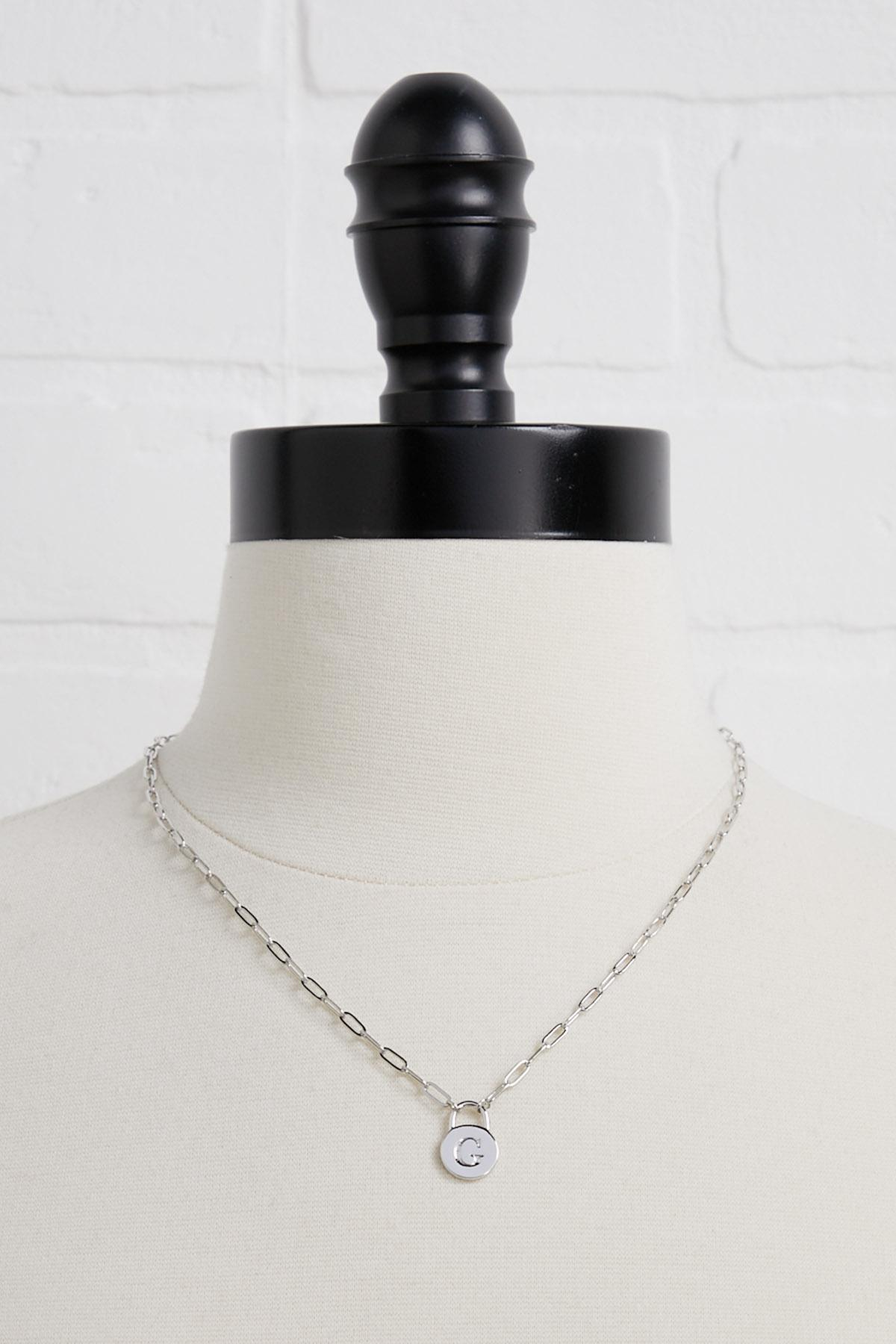 Silver G Necklace