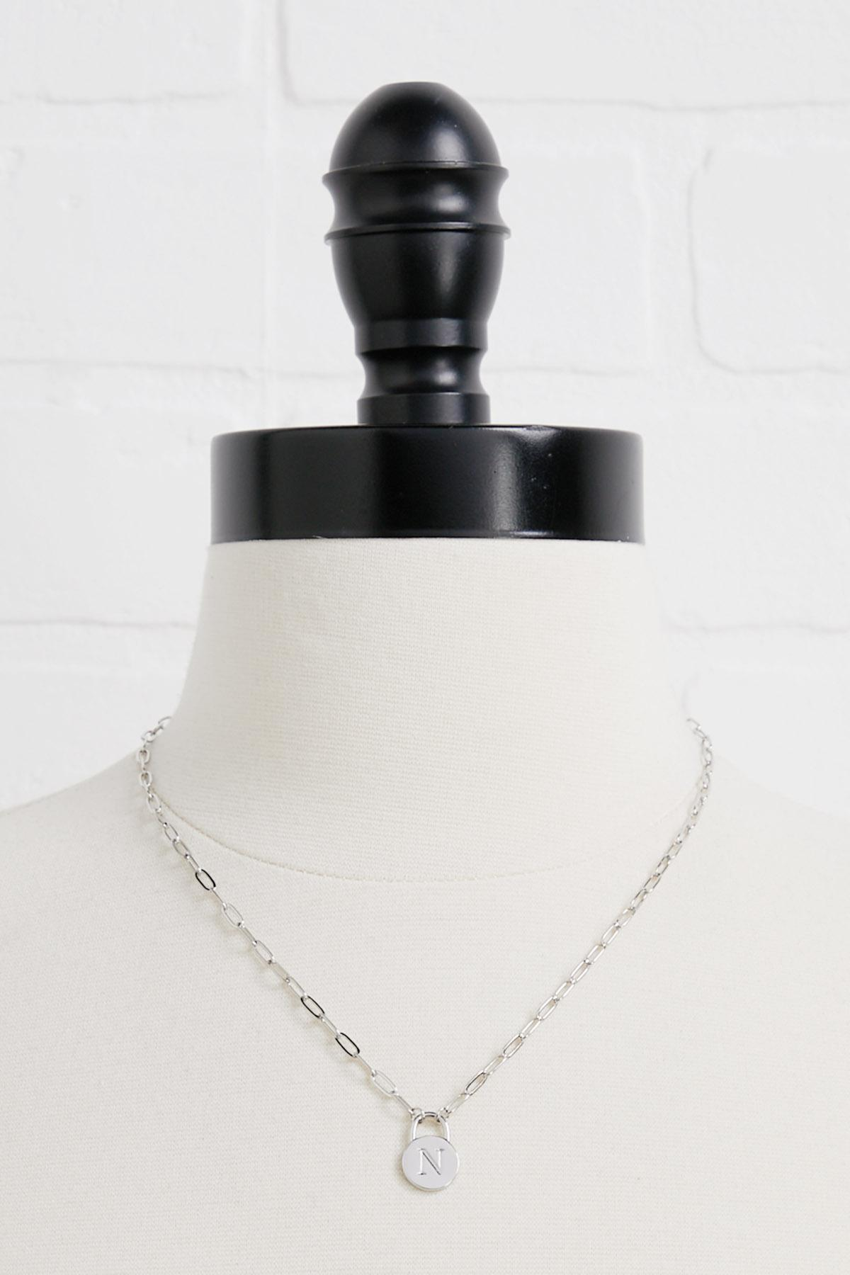 Silver N Necklace