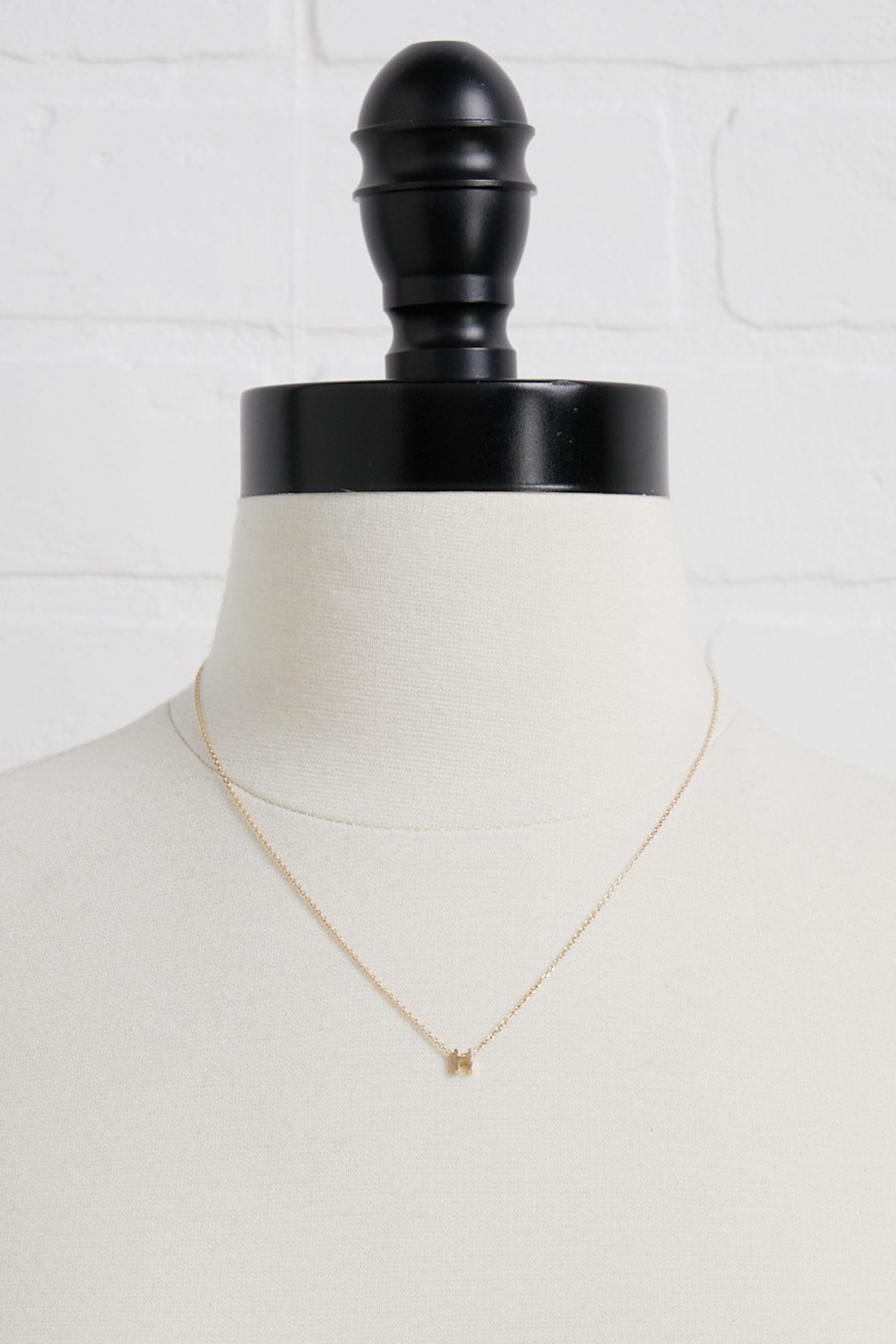 18k Tiny H Necklace