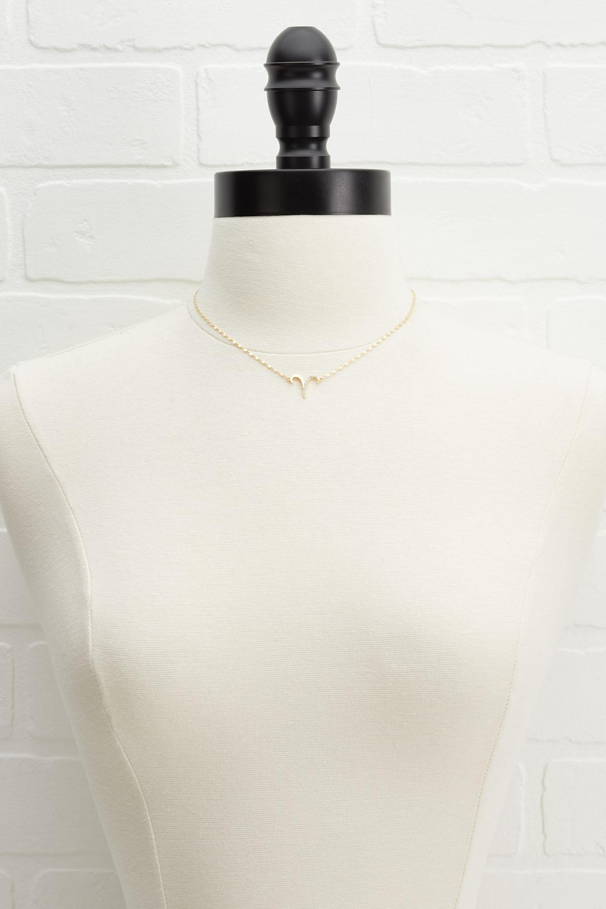 18k Aries Necklace