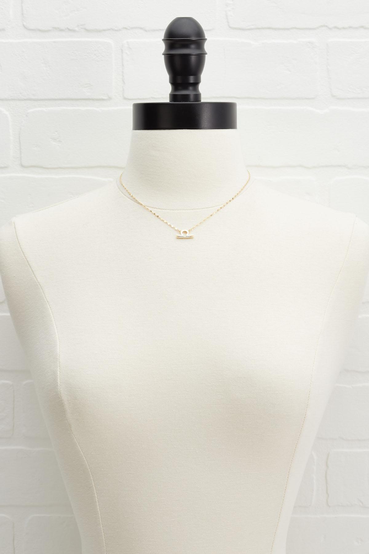 18k Libra Necklace