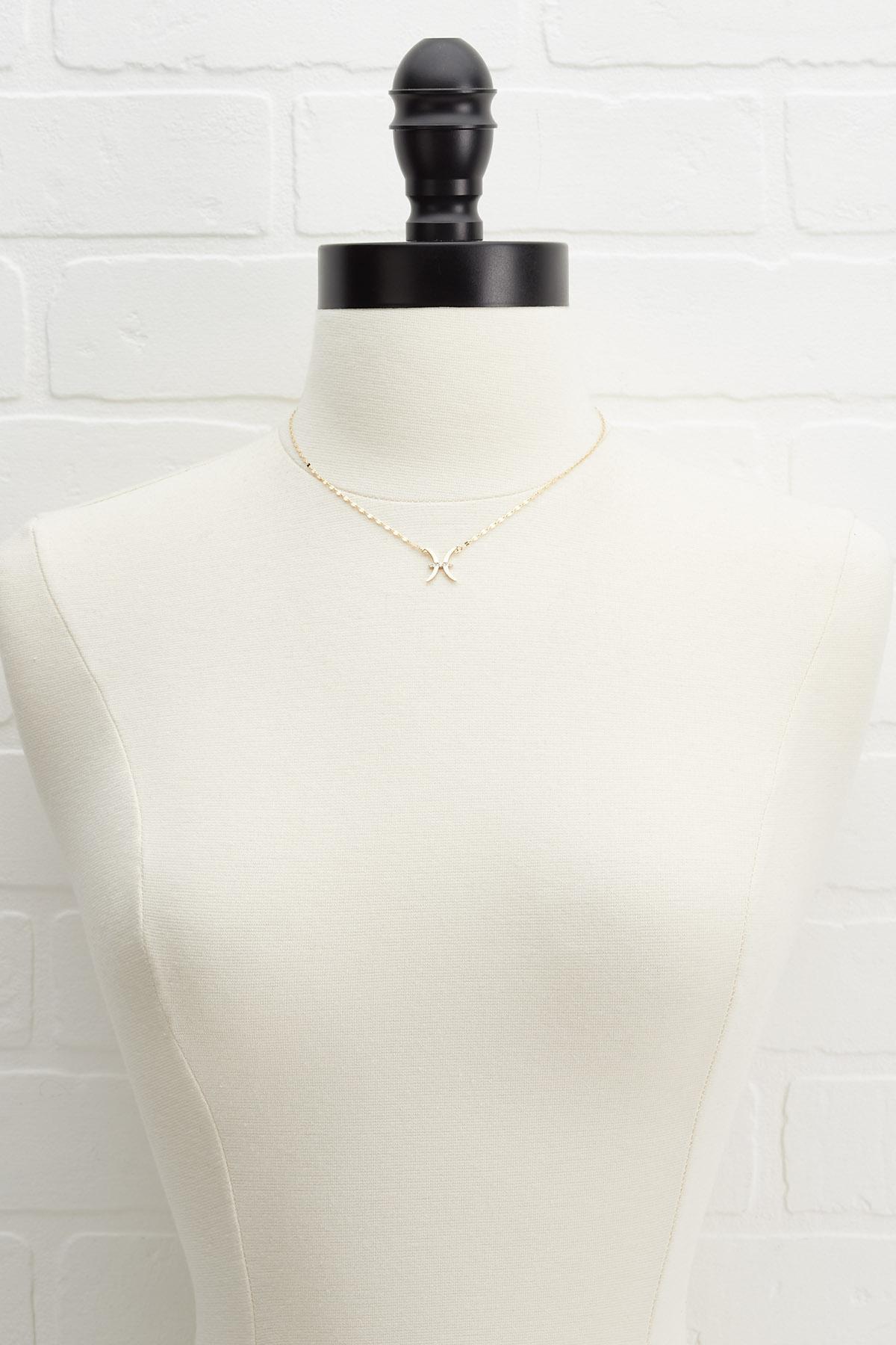 18k Pisces Necklace