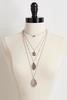 Etched Paisley Pendant Necklace Set