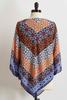Scarf Medallion Pointed Hem Top