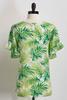 Palm Ruffled Sleeve Top