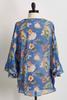 Tropical Ruffle Sleeve Kimono