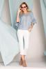 Cropped Ruffled Woven Jeans