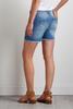 Peek- A- Boo Floral Denim Shorts