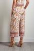 Cropped Crepe Floral Palazzo Pants