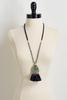 Tasseled Semi- Precious Pendant Necklace