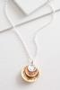 Two- Toned Be Still Pendant Necklace