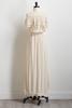 Ivory Off The Shoulder High- Low Dress