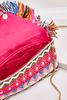 Multicolored Beaded Fringe Clutch