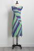 Multicolored Brushed Stripe Dress