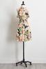 Crepe Garden Floral Ruffle Dress