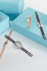 Rhinestone Oval Faux Leather Bracelet