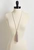 Pearl And Bead Tassel Necklace