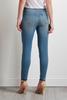 Red Zipped Hem Skinny Jeans
