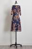 Mesh Floral Bare Shoulder Dress