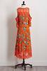 Floral High- Low Bare Shoulder Dress