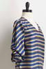 Striped Ruched Sleeve Top