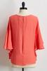 Solid Ruffled Poncho Top