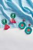 Palm Tassel Earrings