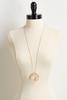 Lucite Circle Pendant Necklace