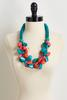 Two- Toned Wooden Bead Necklace