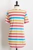 Multi Color Knotted Stripe Tee