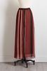 Shimmery Stripe Maxi Skirt