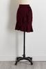 Tie Ruffle Midi Skirt