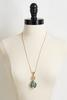 Teal Pave Pendant Necklace