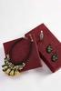 Beaded Fabric Bib Necklace