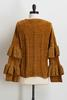 Ruffled Sleeve Chenille Sweater