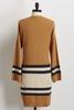 Striped Colorblock Cardigan Sweater
