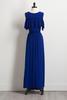 Blue Bare Shoulder Maxi Dress