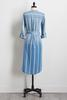 Stripe Chambray Tie Waist Dress
